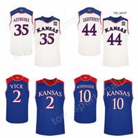 College Lagerald Vick Jersey Kansas Jayhawks Basketbol Sviatoslav Mykhailiuk 0 Marcus Garrett Formalar Takımı Malik Newman