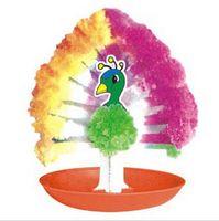 2020 50PCS / LOT 85 mm H de papel multicolor creciente Mystic árbol del pavo real la magia del flamenco árboles de navidad Niños Science Discovery Toys Pin divertido