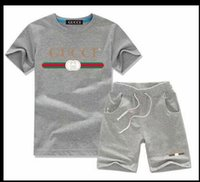 Brand Kids Sets Children T- shirts And Shorts Pants Kids Trac...