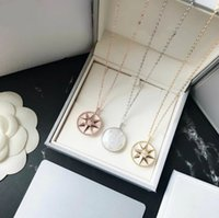 European designer wedding necklace Smooth flat compass chain...