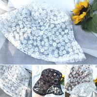 Sombreros delanteros sombreros de verano gorra de encaje de verano flores bordado bordado hueco cubeta sombrero transpirable malla pescador protector solar blanco sunhat taps de sol negro