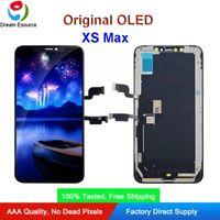 100% Testowany Oryginalny Odnowiony (Zmień Szkło) OLED Montażowy panel do iPhone XS Maksymalny Kompletny ekran montażowy z doskonałym 3D Dotykiem Fit Instalacja DHL DHL