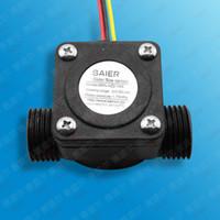 Su Akış Ölçer Sensörü Debimetre Havuz Şamandıra Anahtarı Salonu Yakıt Debimetre Su Isıtıcıları, Kredi Kartı Makinesi G1 / 2 1-30L / dak