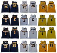 NCAA Michigan Wolverines Trikots 1 Charles Matthews 2 Jodan Poole 25 Juwan Howard College Basketball Jersey