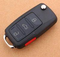 VWリモートシェル(3 + 1)ボタンカーキーシェルの赤いパニックボタンの入荷送料無料