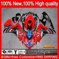 Corps pour Honda CBR 1000RR Graffiti rouge CBR 1000 RR 1000CC CC 79HC.70 CBR1000 RR CBR1000RR 08 09 10 11 2008 2009 2010 2011 carénages Kit OEM
