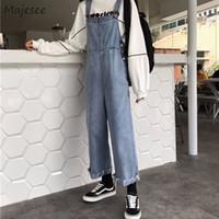 Kadın Tulumlar Tulum Kadınlar Denim Temel Düğmeleri ile Cepler Klasik Ayak Bileği Uzunluk Kare Boyun Yüksek Bel Slim-Fit Düz Trendy -com