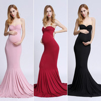 2019 Maternity Dress Off Shoulder Sleeveless Maxi Long Elega...