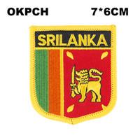Sri Lanka Flagge Stickerei Eisen auf Patch Stickerei Patches Abzeichen für Kleidung PT0163-S