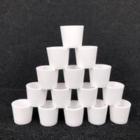 Новые кварцевые вставки чаши чаша с плоским верхним дном нагревательный гвоздь для курения пончик вставка кварцевый мазок чаша