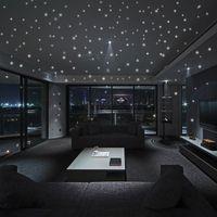 SıCAK Yuvarlak Nokta Glow Karanlık Yıldız Çıkartmalar Aydınlık Vinil Duvar Çıkartmaları Gece Yıldız Gibi Romantik Parti Doğum Günü