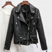 Women Automotive Leather Jackets Fashion Clothing Brand Orig...
