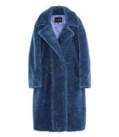 6 colori Jazzevar Blue pecore in pelliccia felpata con parka lungo con fodera in cashmere donne cappotti in pelliccia di tosatura delle pecore