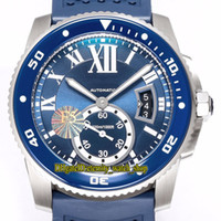 TW F5 version la plus Calibre De WSCA0011 Cal.1904-PS MC automatique Bleu Big Date cadran lumineux Mens Watch céramique Lunette caoutchouc Montres Sport