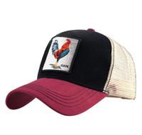 Новый Петух Вышивка Бейсболка Мужчины Женщины Snapback Caps Дышащая Сетка Хип-Хоп Шляпы Унисекс Повседневная Ешьте Куриные Кости Casquette