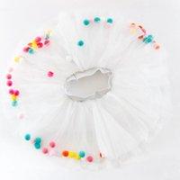 New children' s hair ball skirt baby color ball gauze ch...