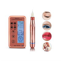 Électrique stylo numérique Maquillage Rotary Pen Kits permanent Micro aiguille machine de tatouage sourcils lèvres traitement Derma Pen + aiguilles cartouches
