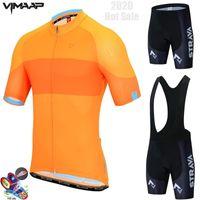 Yeni 2020 Strava Pro Bisiklet Takımı Kısa Kollu Erkek Bisiklet Jersey Yaz nefes Bisiklet Giyim Setleri