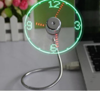 Visualizza orologio in tempo reale Nuove Idee Idee NOVITÀ Illuminazione luminosa estate orologio luminoso luce notturna mini USB Lampada ventilatore a LED