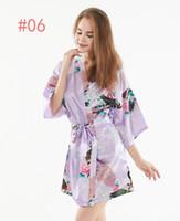 السيدات الصيف النوم رقيقة اللباس الجمال العروس صباح اللباس الحرير كيمونو رداء منامة باس النوم النوم كسر زهرة كيمونو داخلية