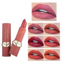 뜨거운 판매 미스 로즈 새로운 립스틱 메이크업 립 모양 모델링 매트 립스틱 maquillaje 입술 색조 메이크업 오래 지속되는 립 스틱 화장품