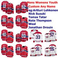 Montreal Canadiens Maglie 32 Christian Folin Jersey 22 Dale Weise Jeff Petry Joel Armia Weal Cale Fleury Hockey su ghiaccio Maglie cucita su misura