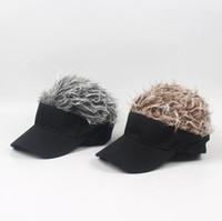 Sahte Saç Peruk tasarım Kapaklar erkek kadın Peruk Komik Saç Beyzbol Güneşlik Şapkalar Unisex Serin Hediyeler LJJK1195