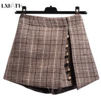 f3602ce6eb Wholesale korean wool skirt for sale - LXMSTH Korean Fashion Women Winter  Wool Shorts Zipper Stright