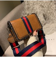 Stripes Envelope bags Shoulder Cross body Purse Fashion Tote...
