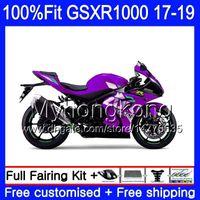 Инъекция для Suzuki GSX R1000 K17 GSX-R1000 Хороший горячий фиолетовый GSXR 1000 331HM.69 L7 L8 GSXR-1000 GSXR1000 17 18 19 2017 2018 2019 OEM FACKING