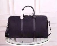 Atacado novo mochilas lona para homens saco de bagagem de viagem de alta qualidade clássica para homem totes bolsa de couro saco de moda duffle