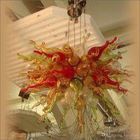 Большой Продажа Чихули Стиль Люстра Art Design Матовый Murano Style Канделябр выдувного стекла Свадьба Декор Цветок Дизайн Кри