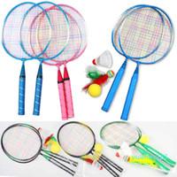 Gros-1 Paire jeunesse Raquettes de badminton enfants Sport Cartoon Jouet Costume pour les enfants B2Cshop