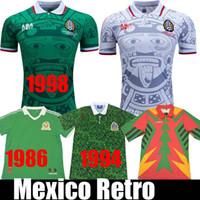 1998 México Retro Blanco Hernandez Blanco Campos de Campos de Futebol Femininos Uniformes Home Goalkeeper 1994 Camisa de Jerseys de Futebol 1986 Camiseta Futbol
