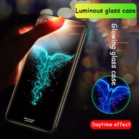 For iphone xs xr phone case Luminous glass mobile phone case...