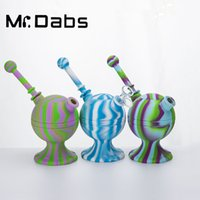 Silikon-Bong-Silikon-Wasserpfeife mit Glasschale + Glas-Down-Stiel-Kugelform Tabak-Krautpfeifen