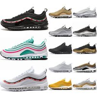 Nike Air Max 97 Sneaker Uomo Donna Running Shoes Undftd Triple Nero Bianco Silver Gold Bullet South Beach Mustard Giallo Trainer Athletic Sport Taglia 36-45