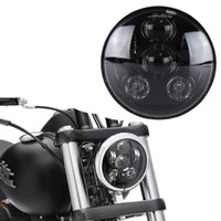 "5. 75"" 5 3 4 LED Motorcycle Headlight Daymaker Black for..."