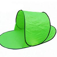 휴대용 팝업 해변 텐트 태양 그늘 쉼터 야외 캠핑 낚시 비치 매트 단일 사람을위한 자동 태양 그늘 텐트 접이식 LJJK2143