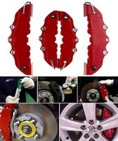 4 pezzi New Plastic 3D Car Caliper Covers Anteriore Posteriore Kit Truck Red Auto Universal Disc Brake