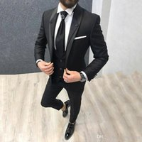 Latest Designs Black Men Suits for Wedding Suits Grey Shawl ...