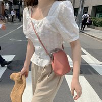 Alien Kitty 2019 Summer Casual Square Collar Elegant Short S...