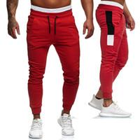 2019 Mode Tendance Hommes Automne pré-automne Nouveau Survêtement Slim Fit Sport Gym Skinny Pantalon de jogging Sweat Exercice Casual pantalons