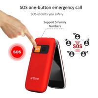 Yaşlı Kilidi Kıdemli SOS Telefon Loud Hoparlör ve Lound Hoparlör için Artfone Ayaklı Büyük Düğme Cep Telefonu