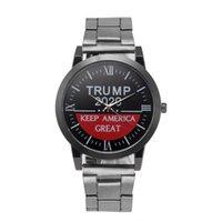 Trump Armbanduhren 5 Arten Trump 2020 Riemenuhr Retro Brief Gedruckt Männer Jungen Quarzuhre OOA7554-7