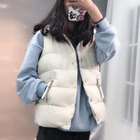 Autunno Inverno Stand Neck Down Gilet Gilet Cappotti Donne Solid Single-Breeded Giacche senza maniche Single Singeveless Giacche da donna coreana Fashion Fashion Outwear caldo