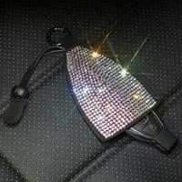 벤츠 BMW 아우디 폭스 바겐 등을위한 범용 블링 다이아몬드 가죽 자동차 키 체인 열쇠 고리 홀더 키 가방 시계 줄 케이스 쉘 커버