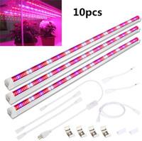 Planta T8 45W 60W 75W LED Grow lámparas de tubo 3 Pack 3Ft espectro completo 448pcs Grow Grow barra de iluminación de Gaza para plantas de interior