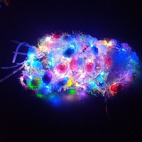Birthday Wedding Party Decoration Crown Flower Headband LED ...