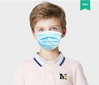 Children Disposable Masks 3 layer Kids Disposable Elastic Mo...